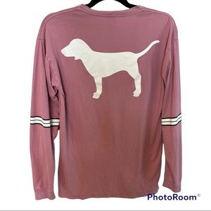Victoria's Secret PINK Lace-Up Dog Campus Tee XS